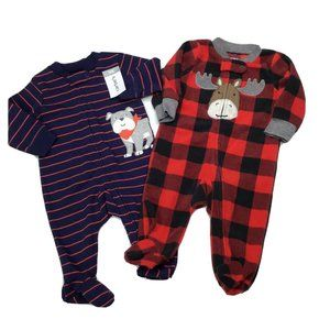 Carters Baby Boys 3 Months Long Sleeve Sleepers
